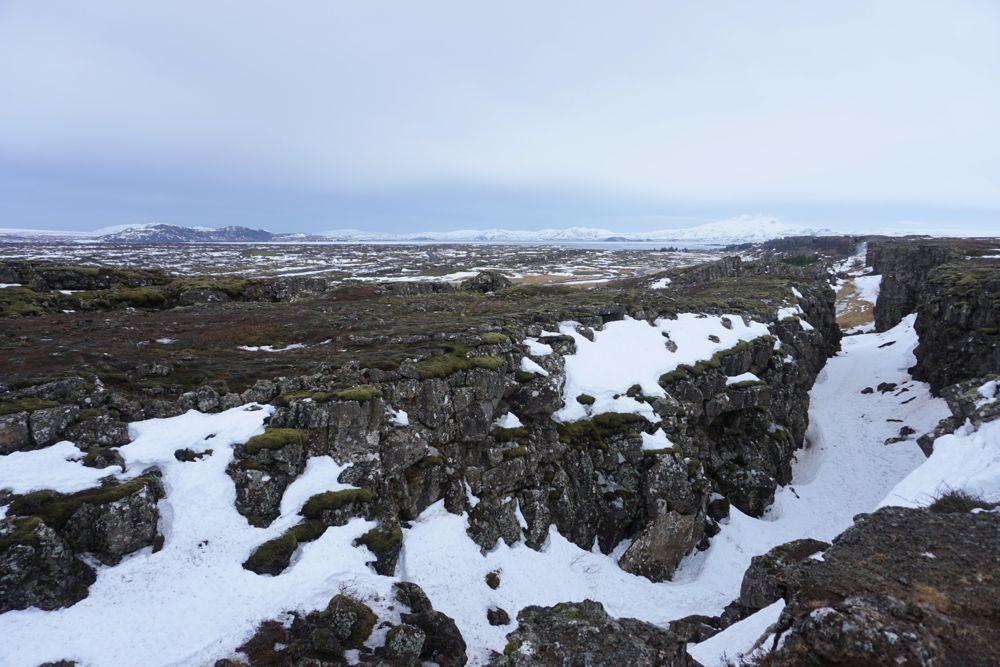 Parc national de Þingvellir - faille d'Almannagjá