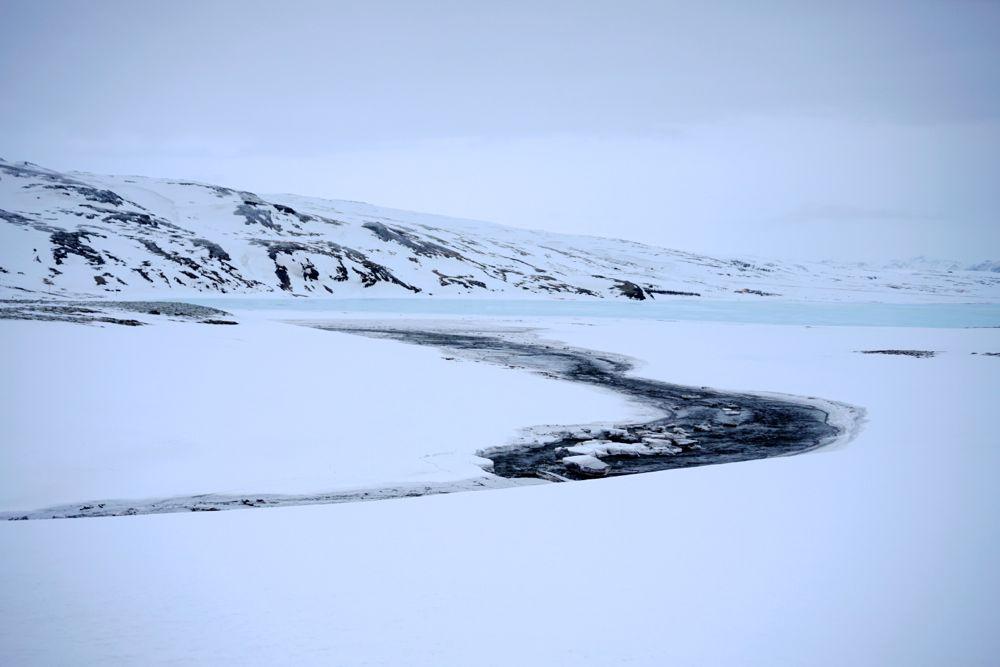 Sur la route de Þingvellir - hiver